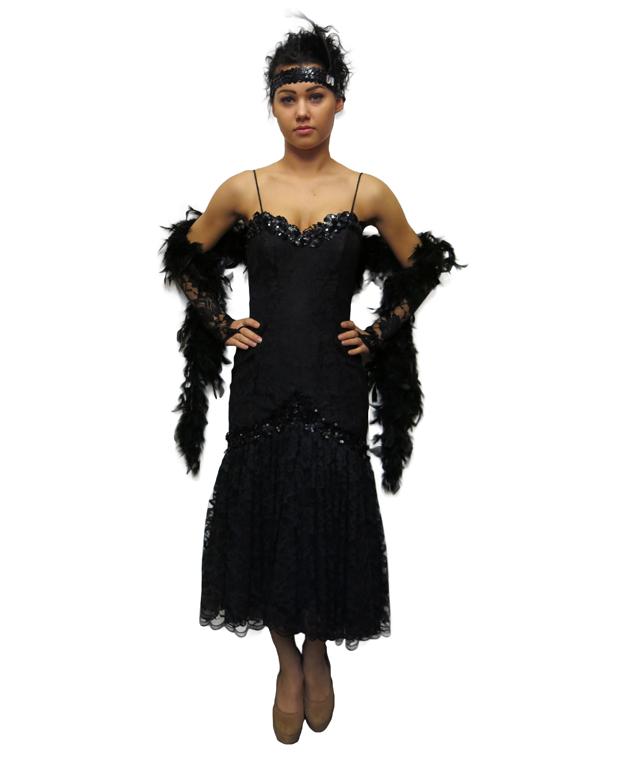 Suknia czarna koronkowa